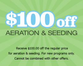 $100 Off Aeration & Seeding