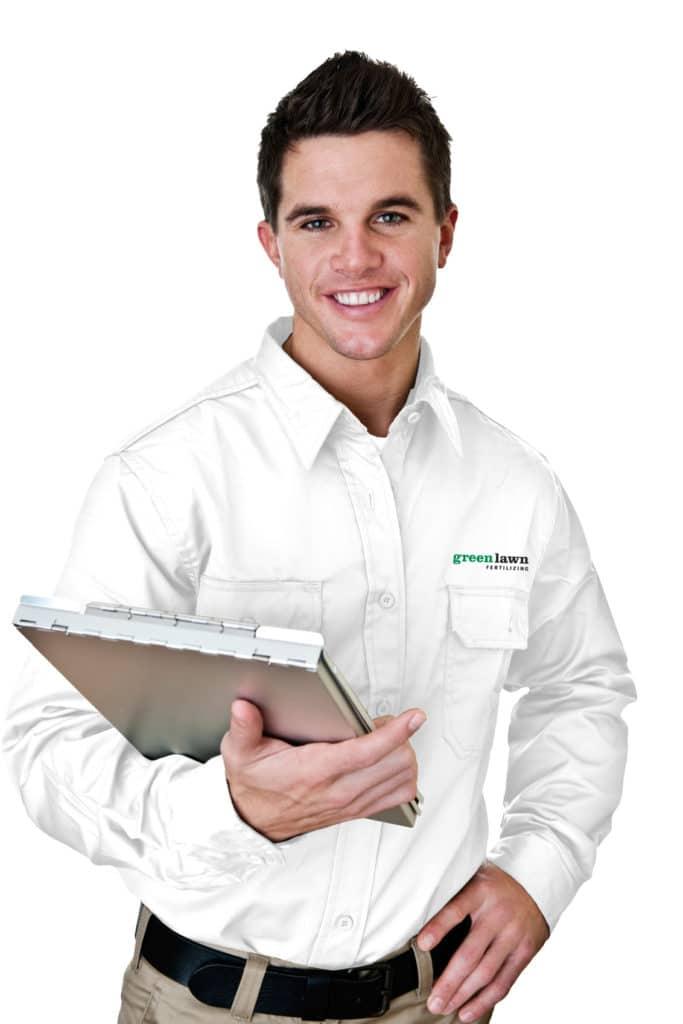 Green Lawn Fertilizing technician