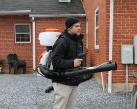 Tim Clowney Properly Demonstrates Mosquito Treatment