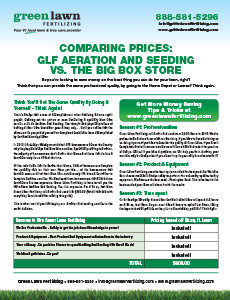 Comparing Prices: GLF Aeration and Seeding vs. Big Box Store