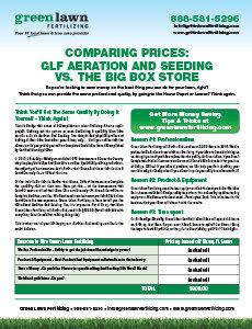 Comparing Prices: GLF Aeration and Seeding vs. Big Box Store